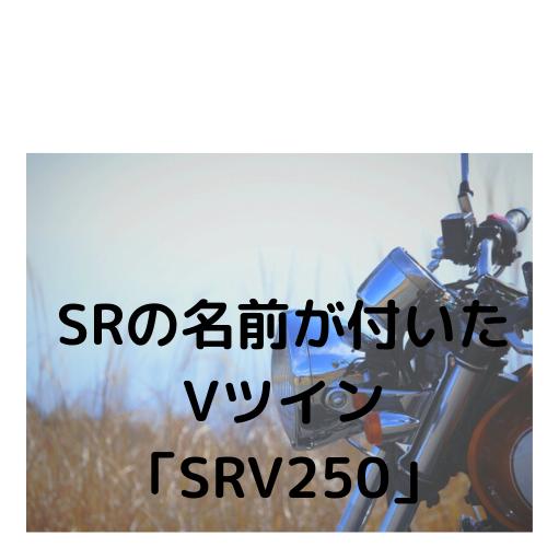 SRの名前が付いたVツイン「SRV250」
